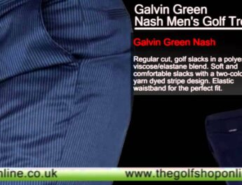 Galvin Green Nash Men's Golf Trousers Dark Indigo-Silver