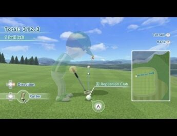 Wii Sports Club Golf – Pro Putter Training Platinum Medal (312.3 Points)